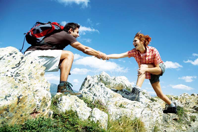 Randonneur-Camping Montagne-Balde Montagne
