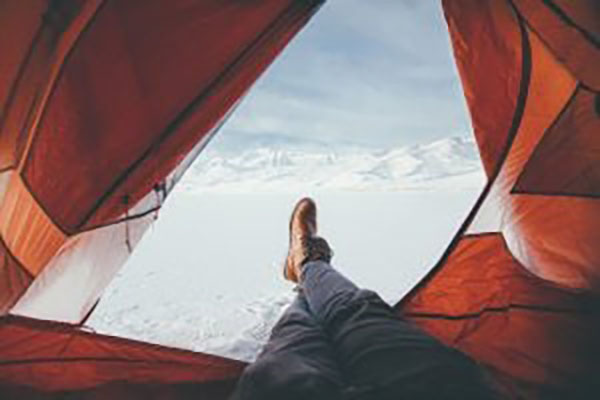 Tente Camping Neige-Camping Montagne